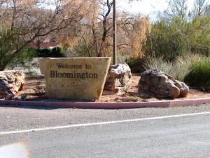 Welcome to Bloomington Utah Sign